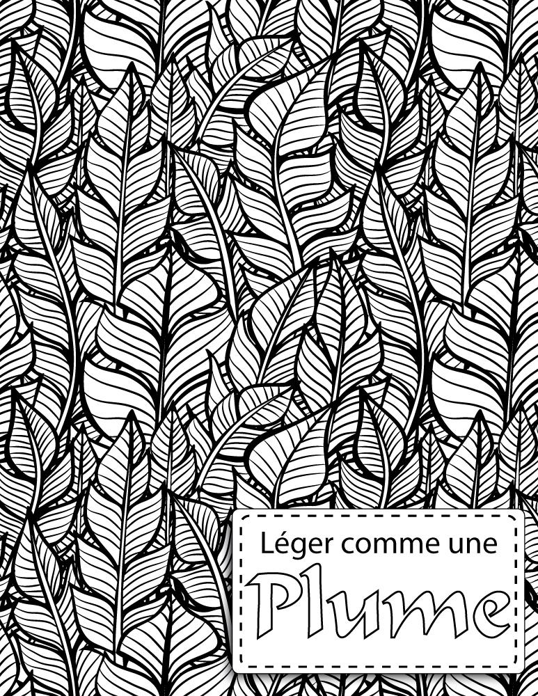 Coloriage pattern léger comme une plume gratuit