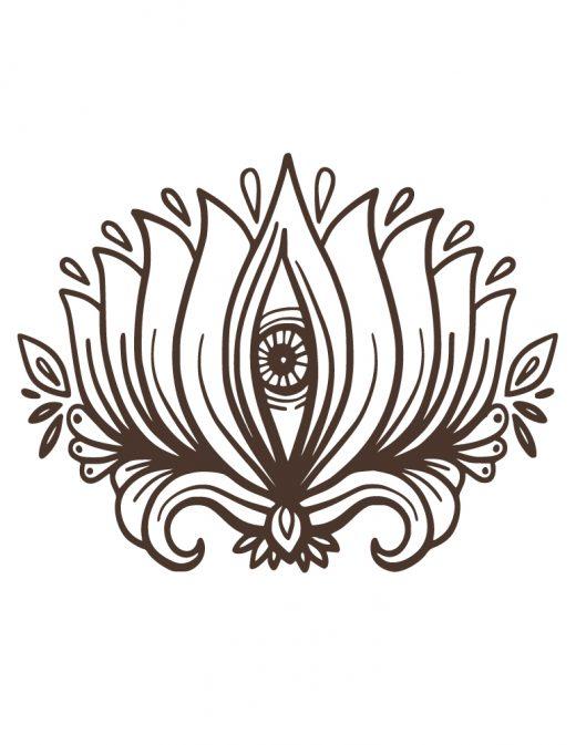 Tattoo henné fleur de lotus à dessiner gratuit