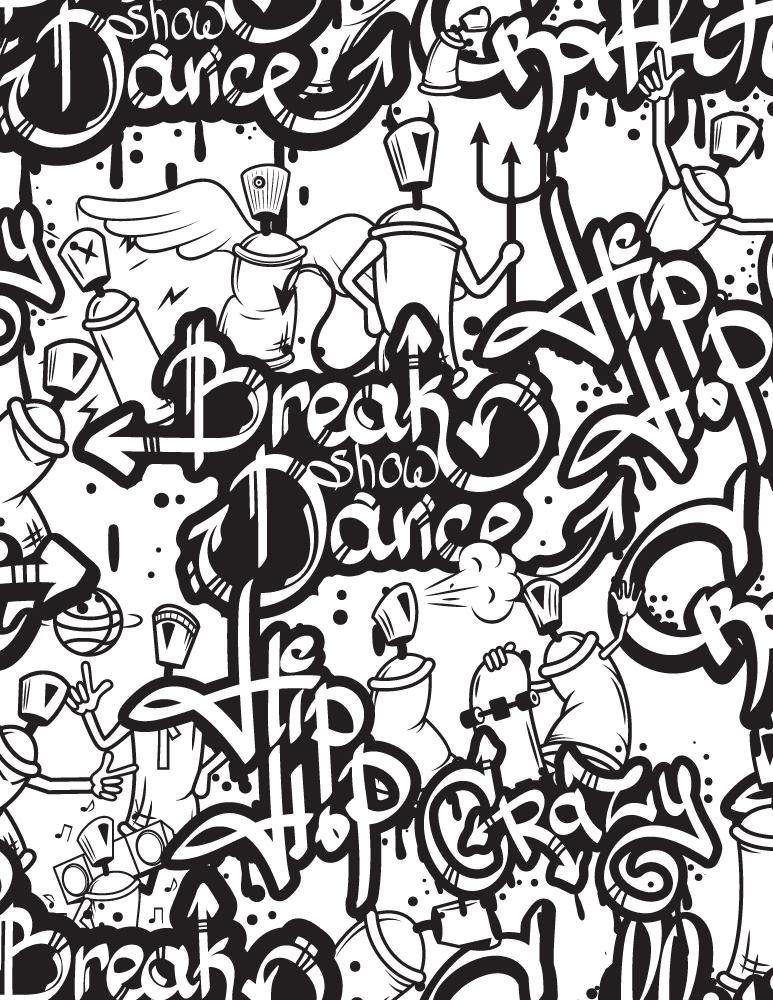 Mosaique hip hop graffiti imprimer et dessiner - Personnage scoubidou ...