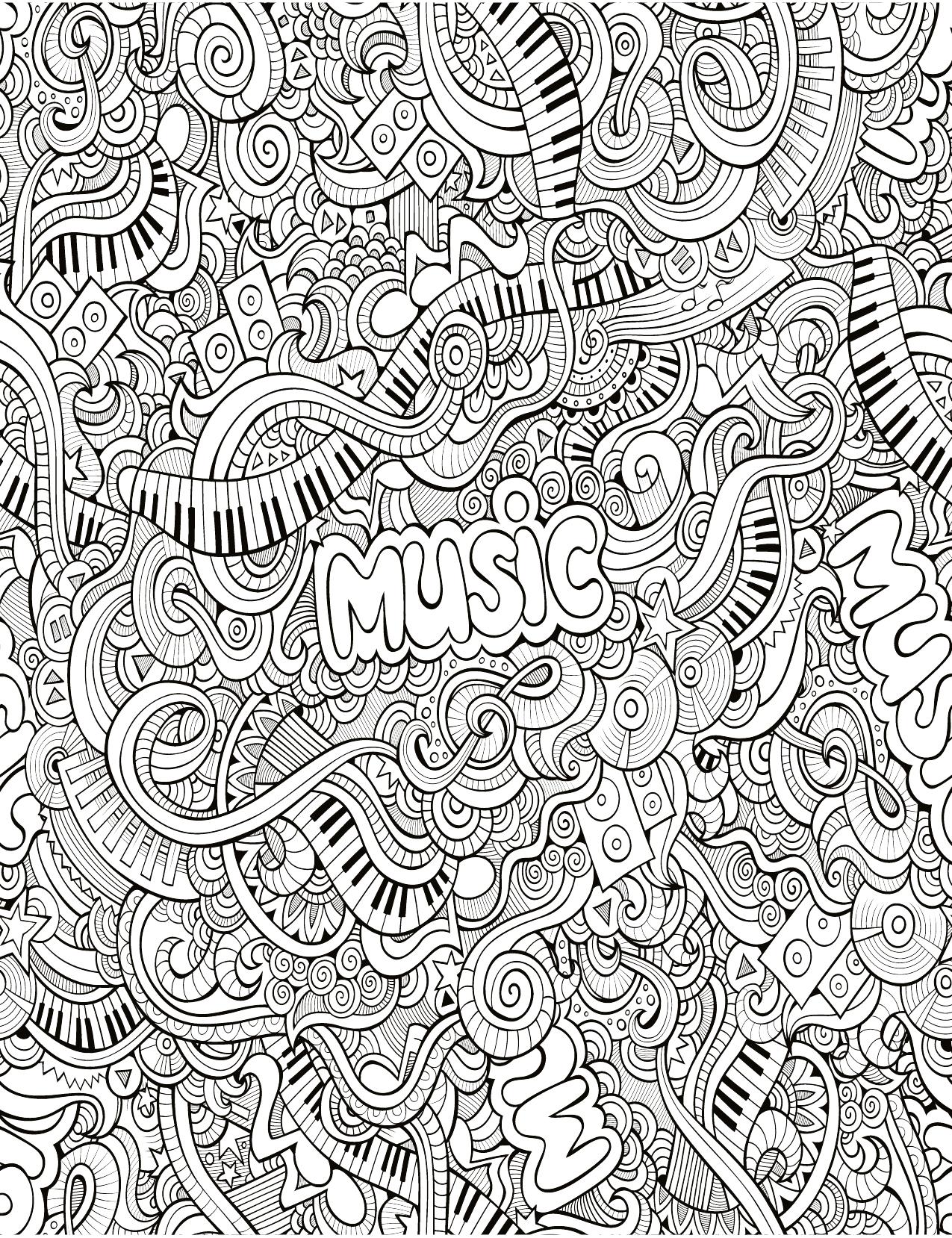 Zendoodle Tres Difficile Musique A Imprimer