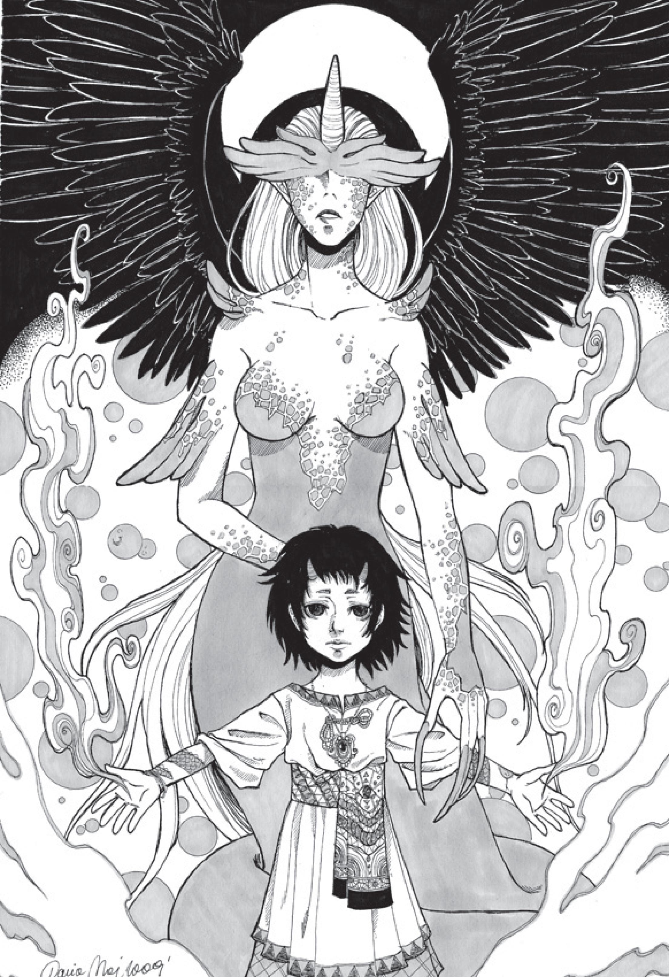 Anime à imprimer Lilith et Johnas アニメ pour adulte