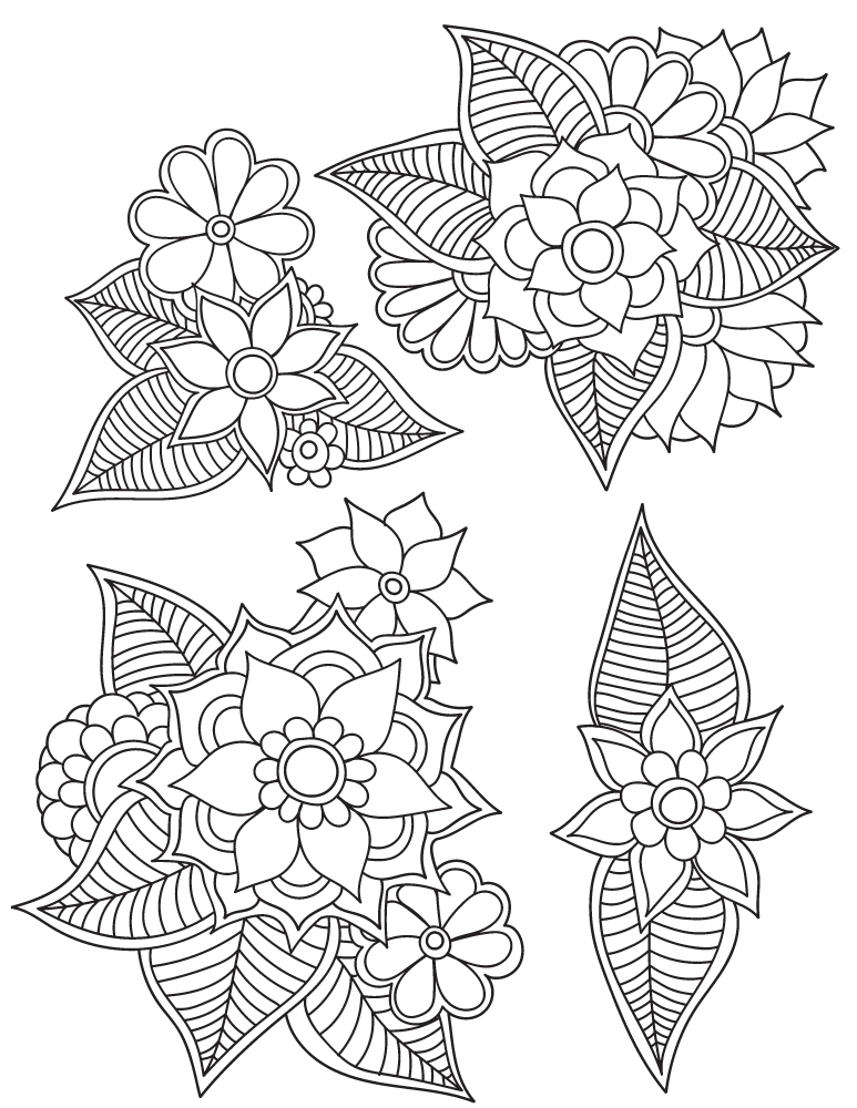 Mandalas fleurs dessin coloriage pour les grands - Dessins de mandala ...