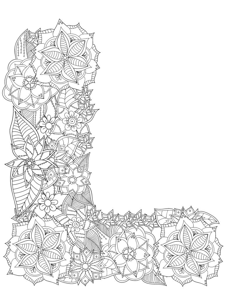 Lettre l fleurs alphabet rigolo gratuit imprimer - Experte en composants 15 lettres ...