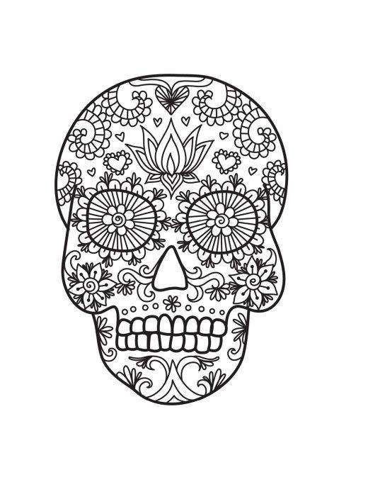 Masque crane mexicain image à colorier gratuite