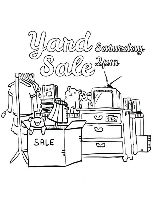 Image à colorier vente de garage sale gratuit