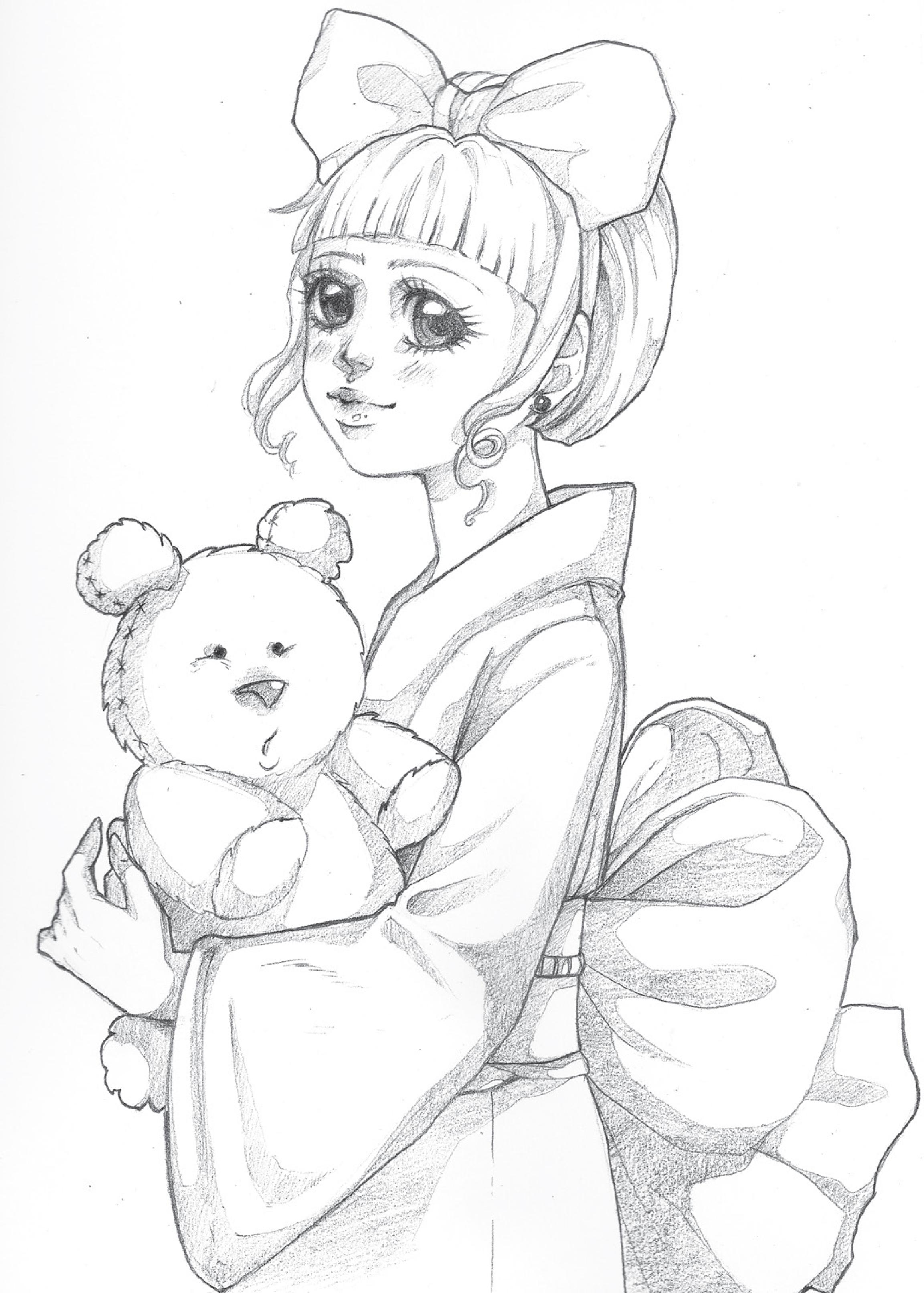Sketch personnage chibi coloriage pour imprimer par Dar ...