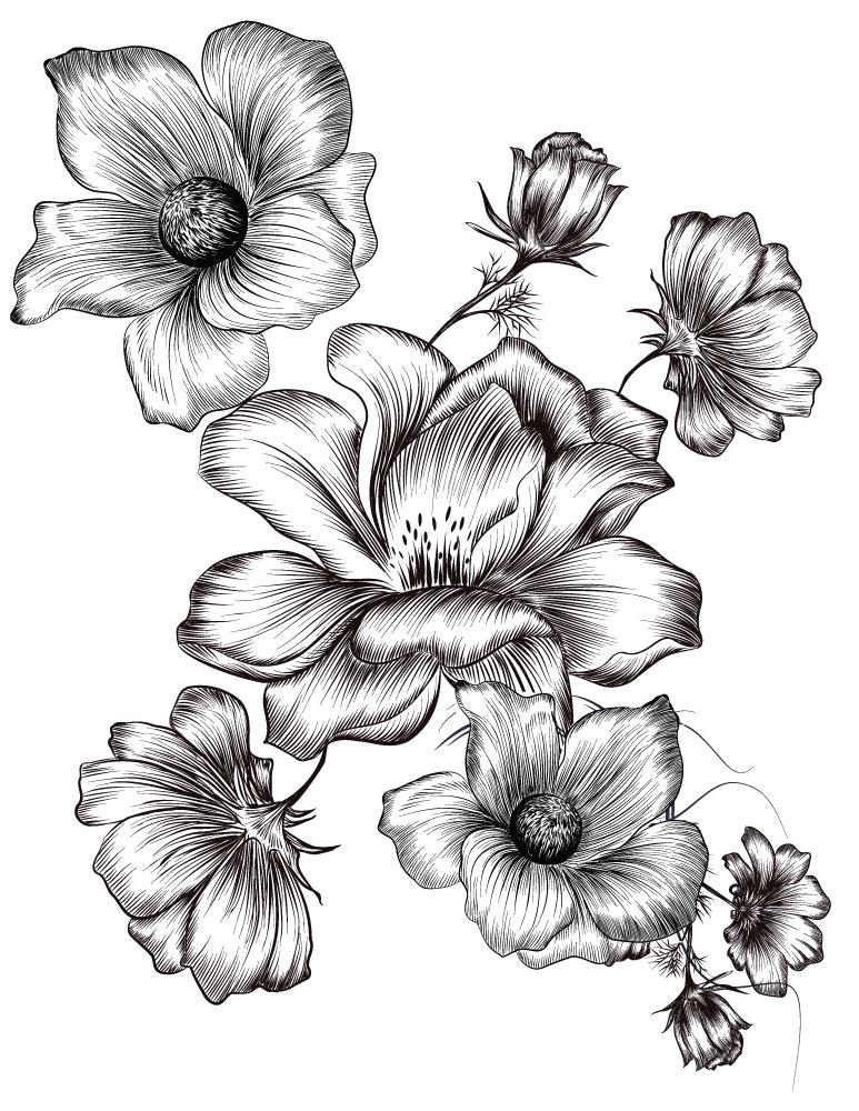 Petites fleurs coloriages été à imprimer image gratuite - Artherapie.ca