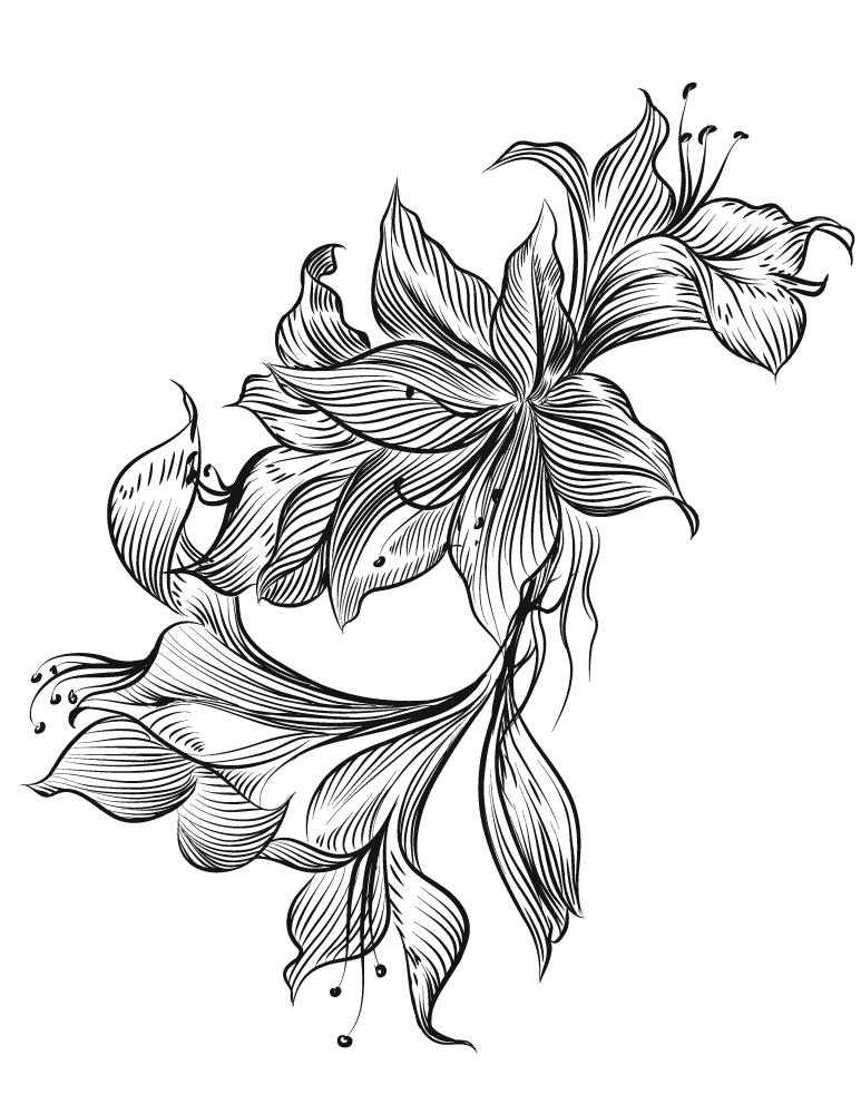 Magnifique fleurs imprimer gratuit pour adulte - Photo de fleur a imprimer ...