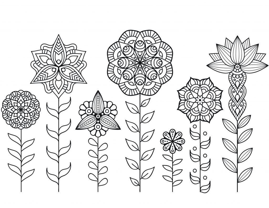 Dessin a imprimer de mandala fleurs automne - Coloriages mandalas fleurs ...