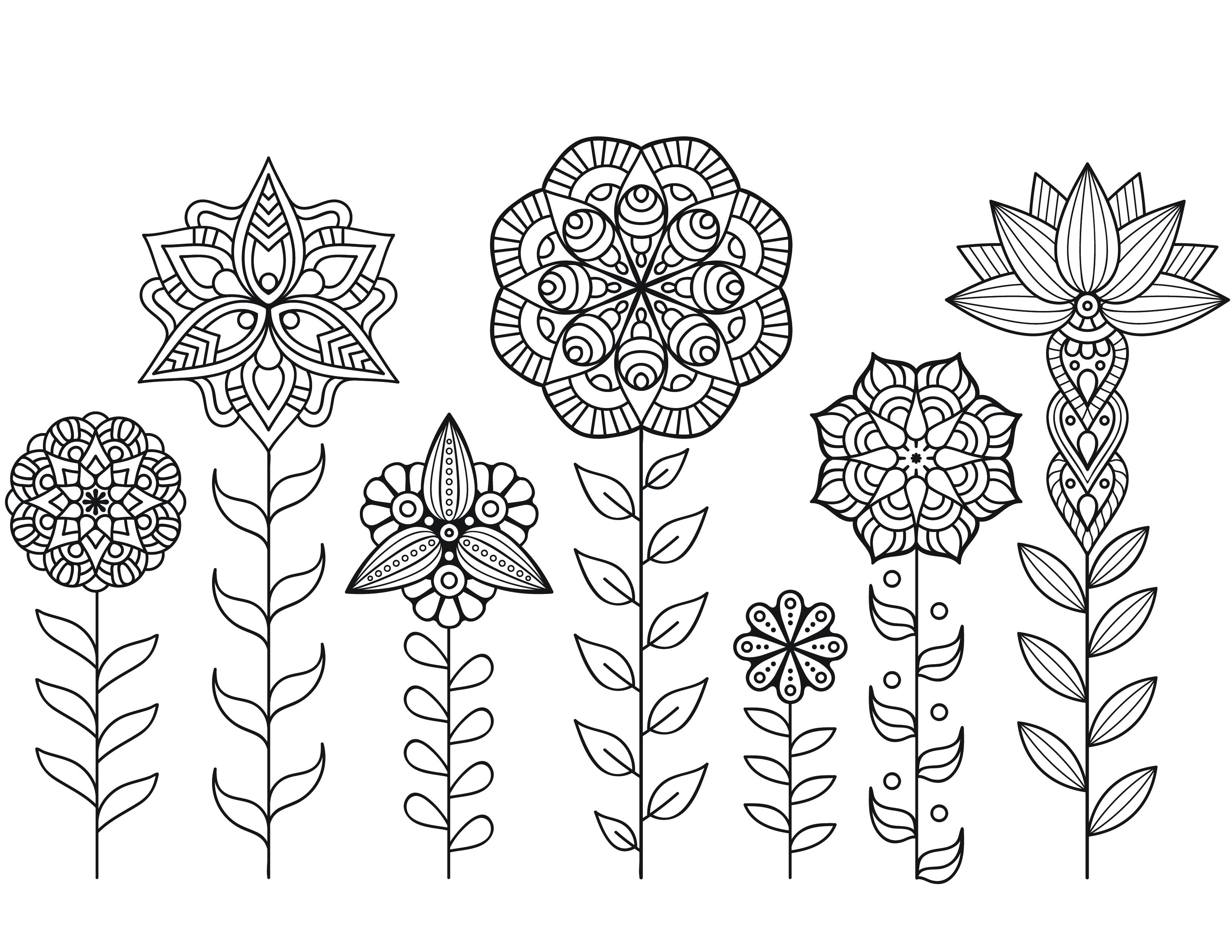 Dessin a imprimer de mandala fleurs automne - Coloriage de fleur ...