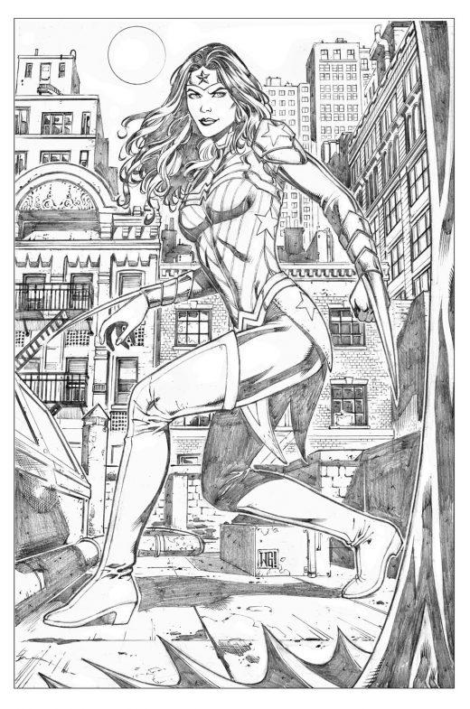 Dessin de Wonder Woman DC Entertainment à colorier par Walter Geovani
