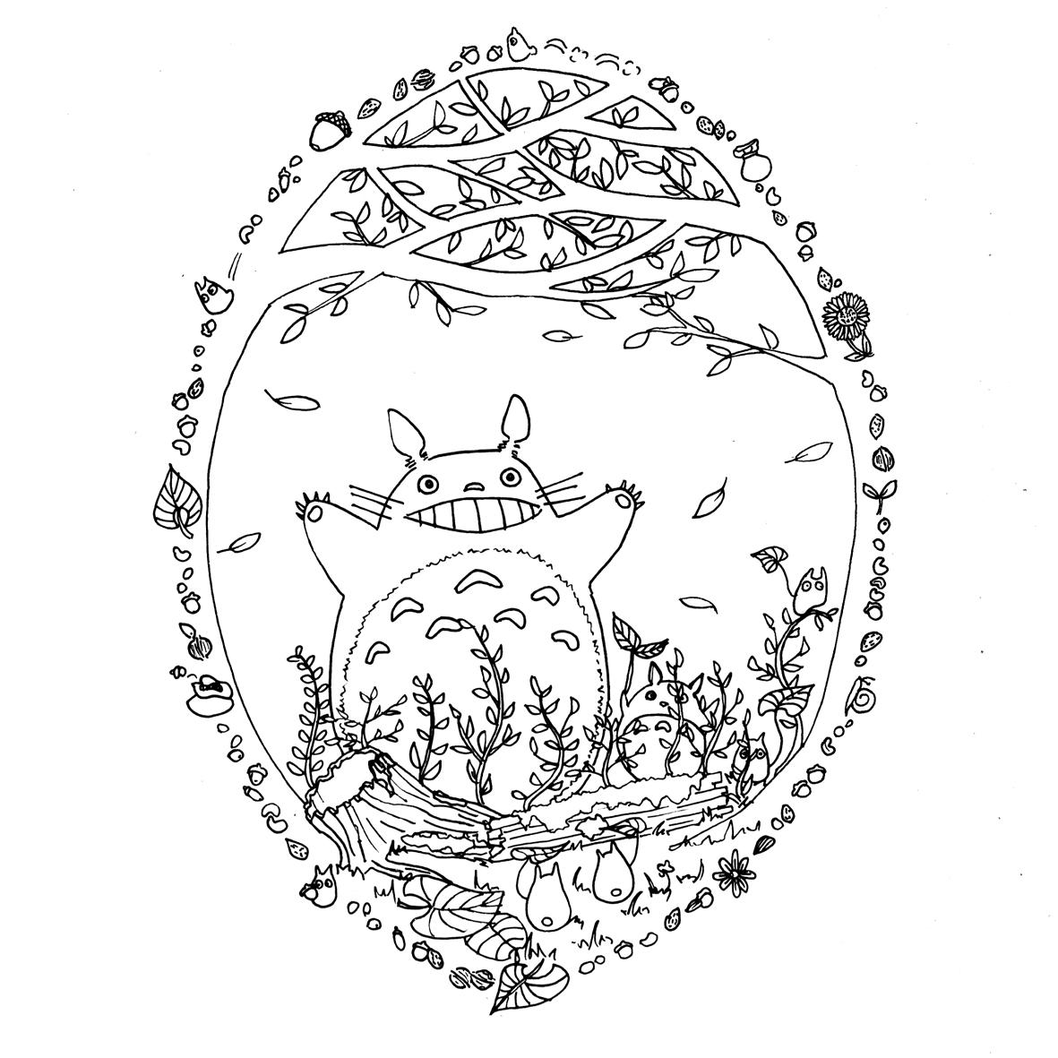 Site Pour Imprimer Des Coloriages Totoro Par Chocobo Artherapieca