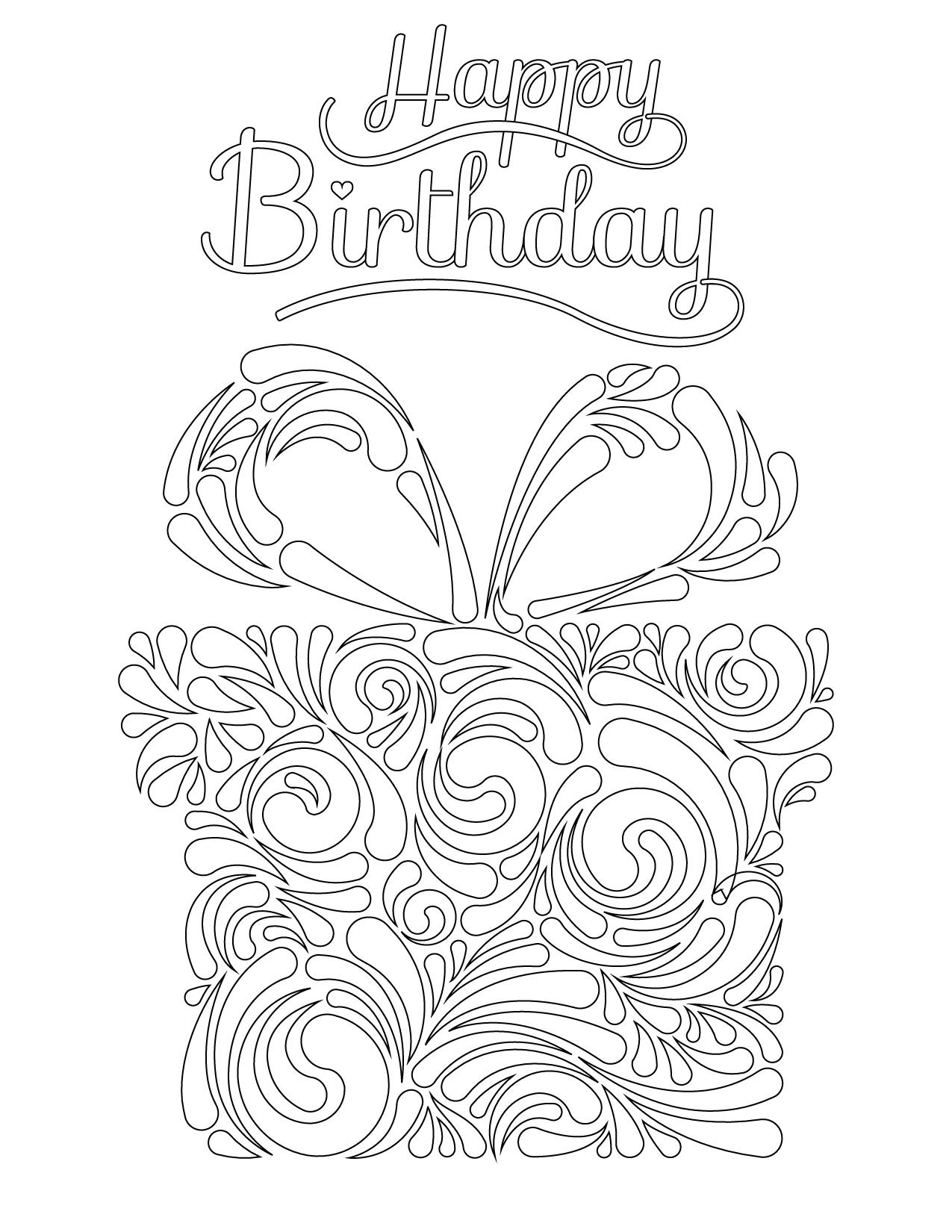 Joyeux anniversaire notre fondatrice impression dessin - Coloriage de joyeux anniversaire ...