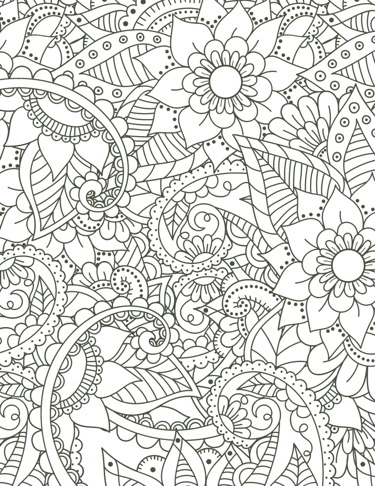 Coloriage mandala imprimer motif fleurs pour adulte - Deco printempsidees avec fleurs et motif floral ...