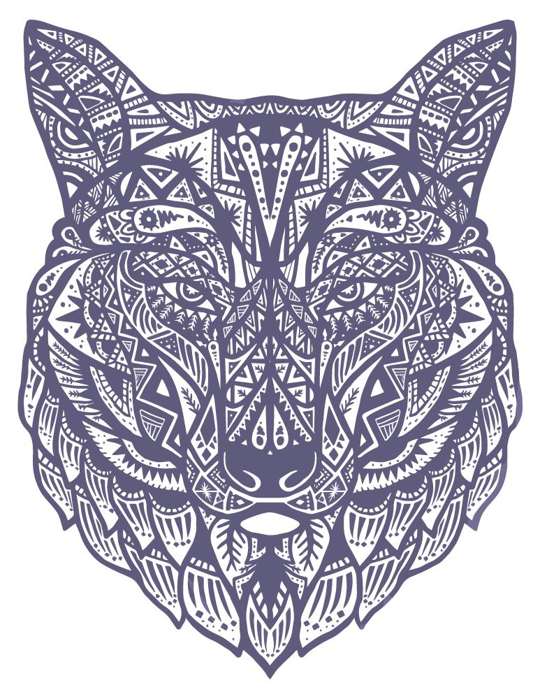 Loup mandala coloriage pour adulte imprimer - Image de loup a imprimer ...