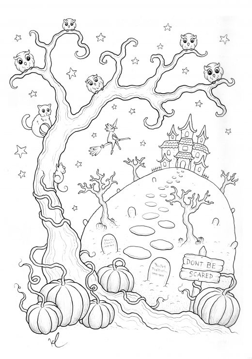 coloriage halloween a imprimer qui fait peur archives. Black Bedroom Furniture Sets. Home Design Ideas