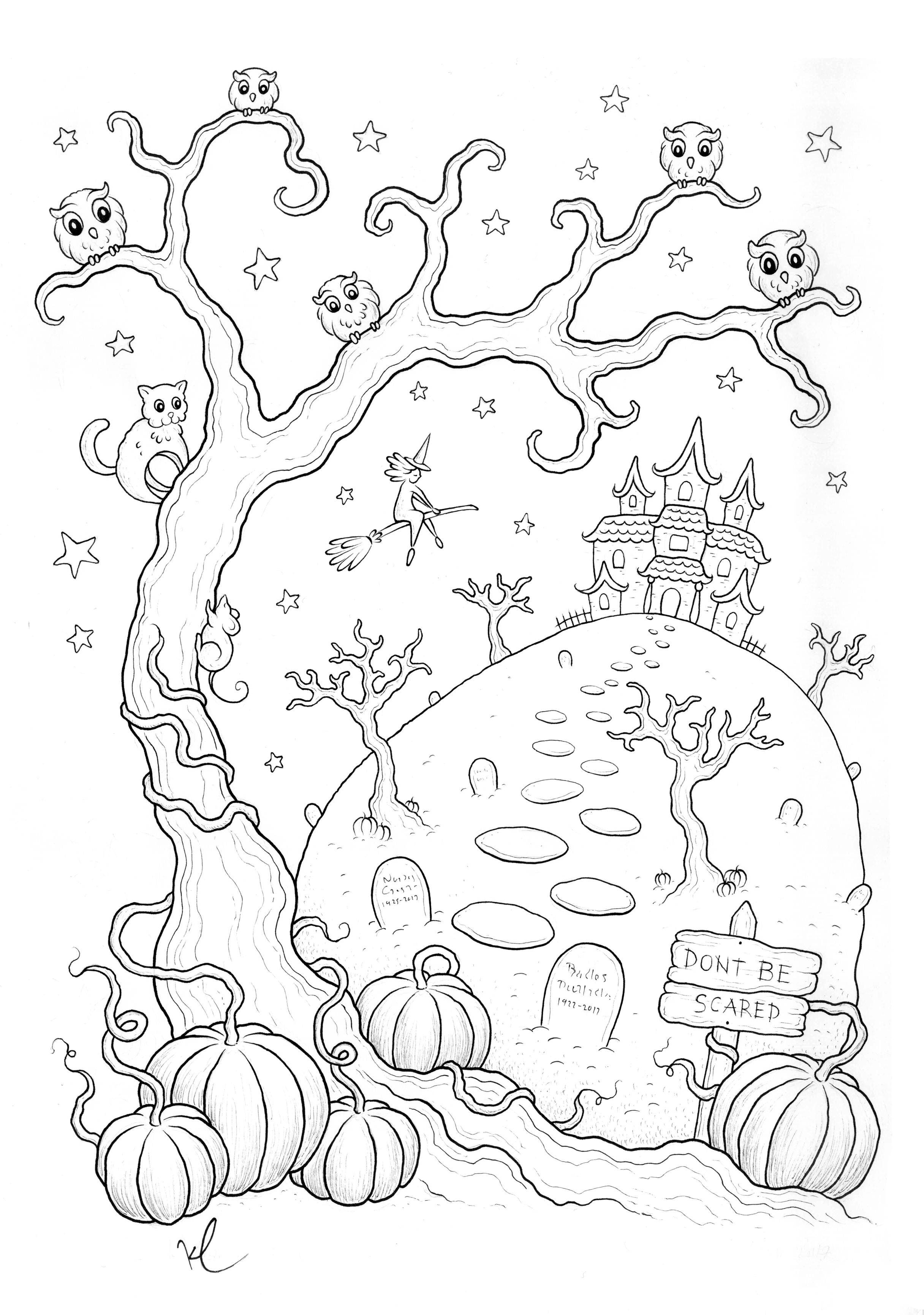 coloriage halloween a imprimer qui fait peur par konstantinos liaramantzas. Black Bedroom Furniture Sets. Home Design Ideas