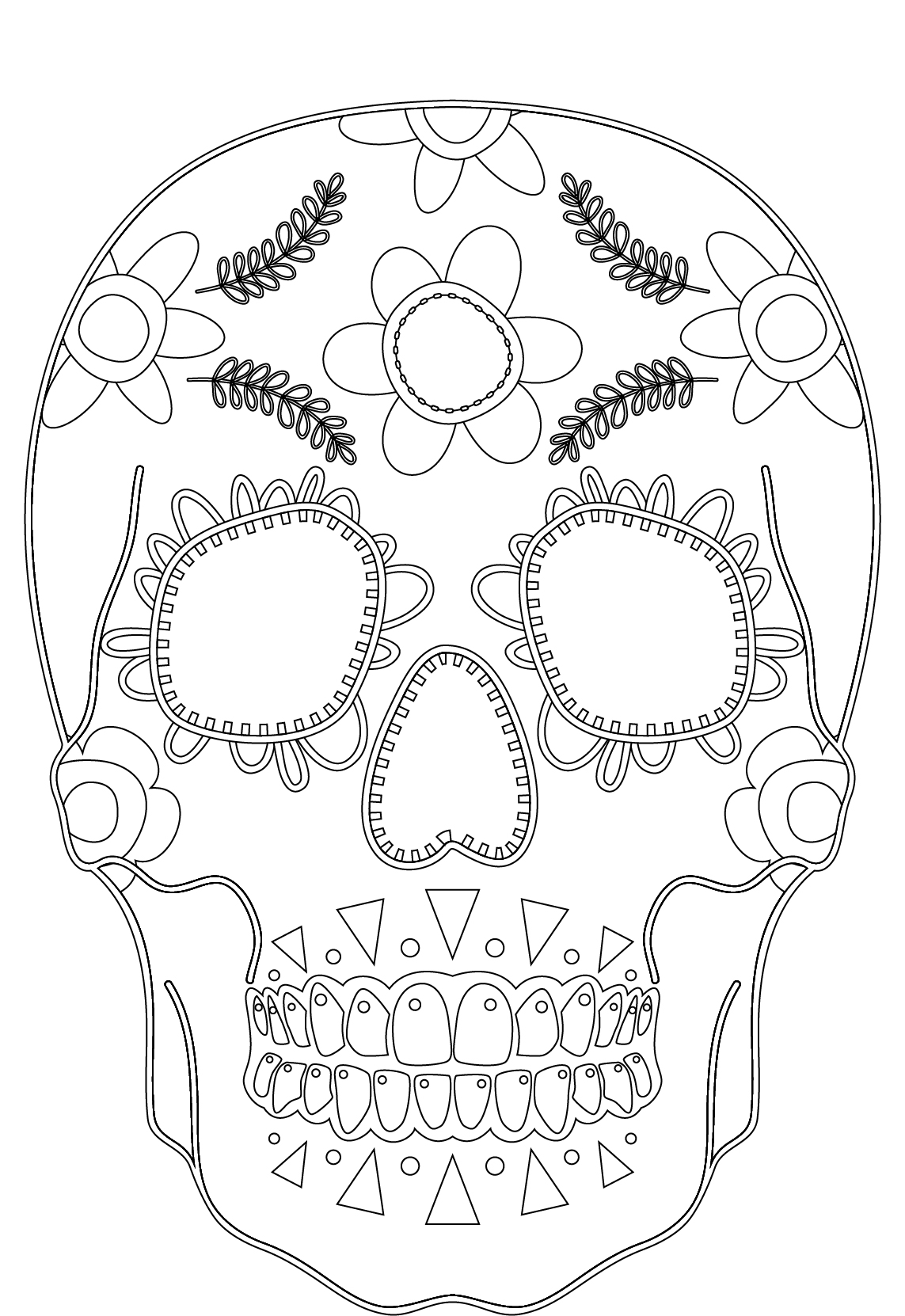 Imprimer des coloriages makeup skull face artherapie - Dessin a imprimer disney gratuit ...
