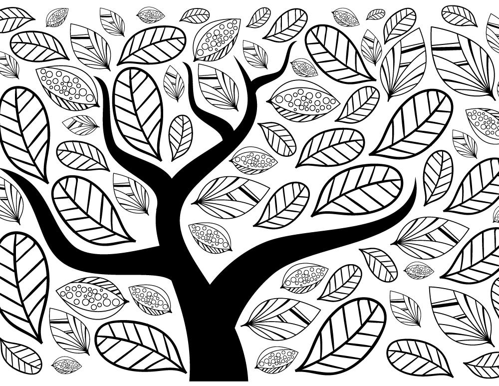 Impression dessin arbre automne site de coloriage - Dessins automne ...