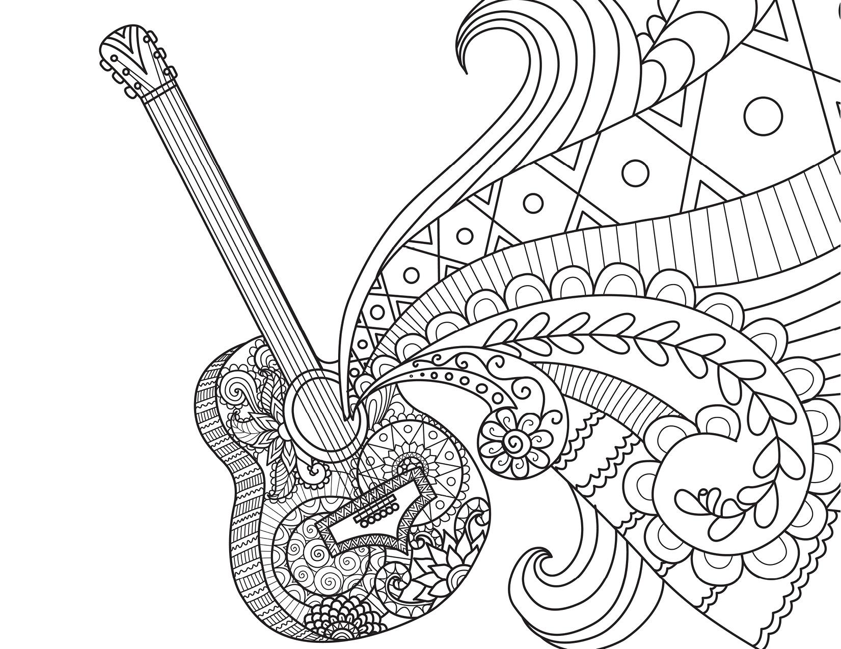 guitare disney coco movie musique colorier par bimbimkha. Black Bedroom Furniture Sets. Home Design Ideas