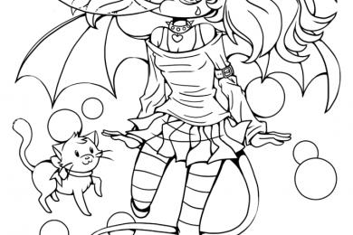 Dessin manga a imprimer bubblegum Suka chibi par YamPuff