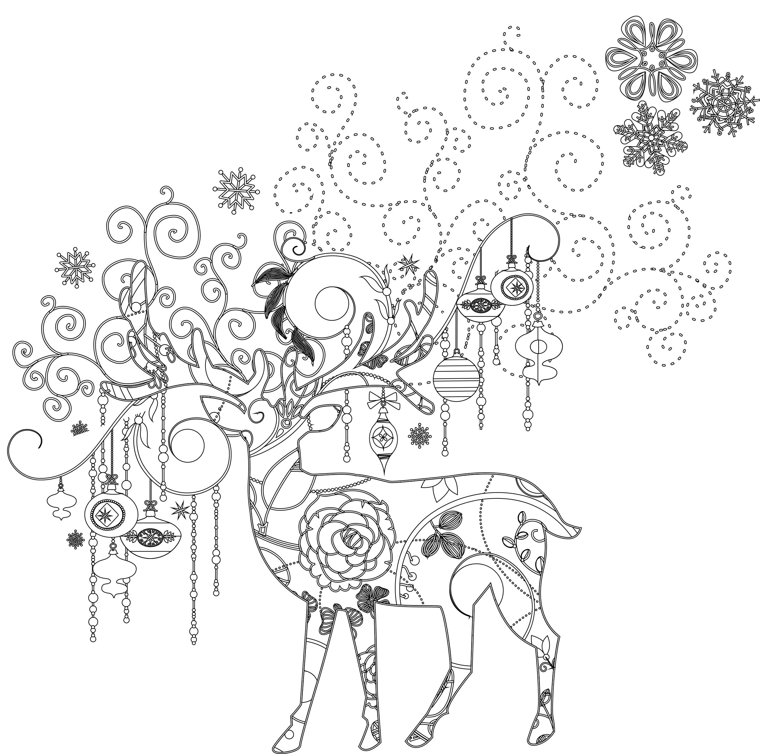 Art th rapie animaux dessin a imprimer de noel gratuit - Dessin theme noel ...