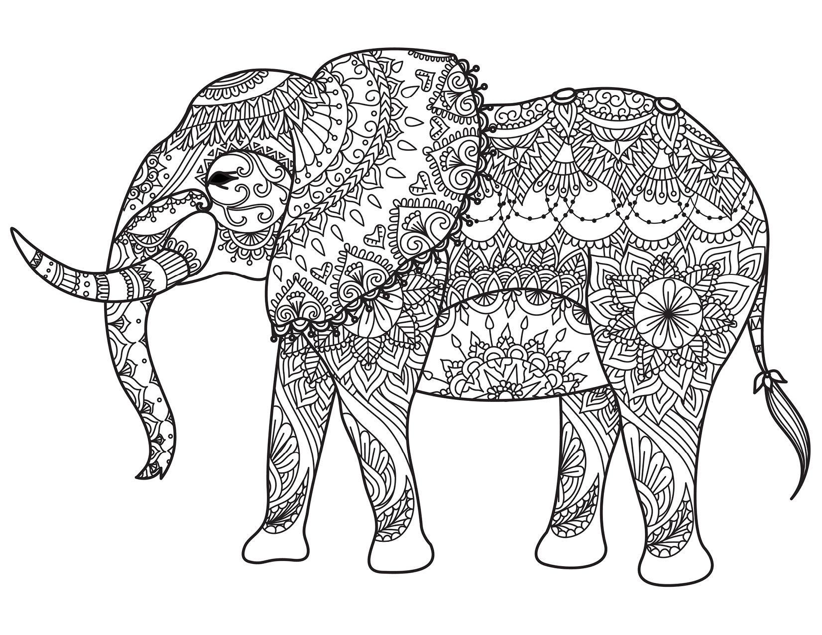 Coloriage animaux à imprimer pour adulte par Bimbimkha - Artherapie.ca