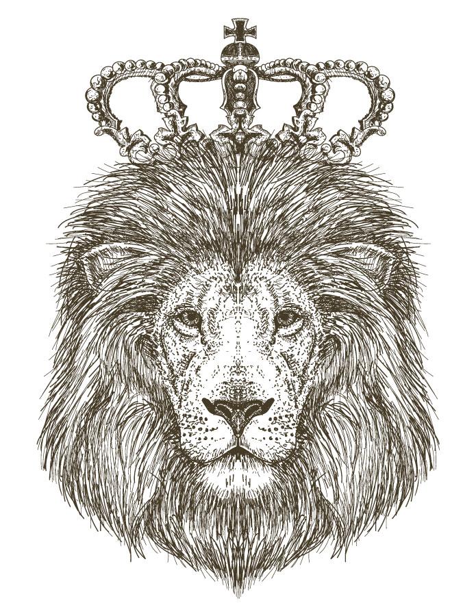 Roi lion coloriage pour imprimer et dessiner - Artherapie.ca