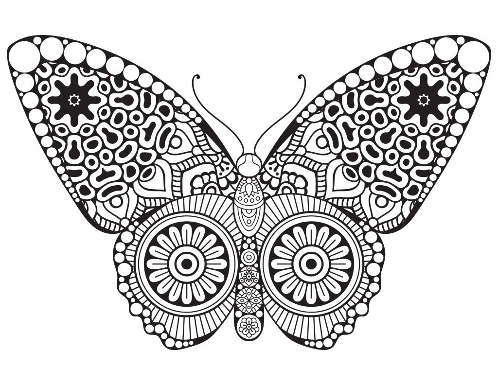 Papillon butterfly dessin a colorier artherapie - Artherapie.ca